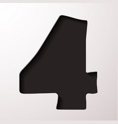 Volume icons number four vector