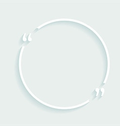 White circle plastic buttons background vector