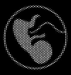 White pixel prenatal icon vector