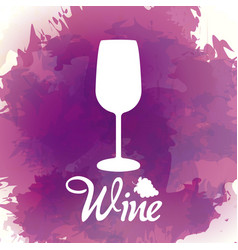Wine cup silhouette vector