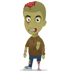 zombie left vector image