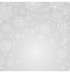 gray abstract background with snowflake vector image