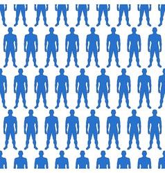 Men silhouette pattern vector image