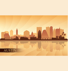 austin city skyline silhouette background vector image vector image