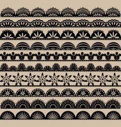 Black Lace Border set vector image