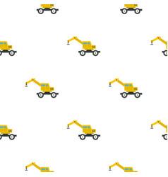 crane truck pattern flat vector image