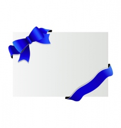 decorative bow vector image vector image