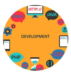 Development emblem vector image vector image