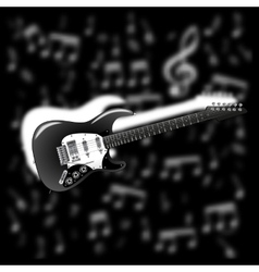 electric guitar on background music vector image