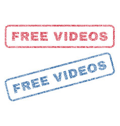 free videos textile stamps vector image vector image