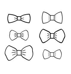 Hand-drawn bowties set vector image