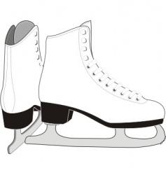 Lady's ice skates vector image