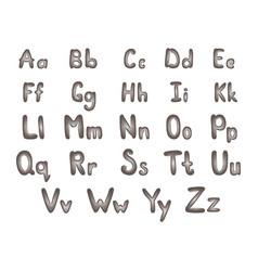 metal alphabet steel letters vector image