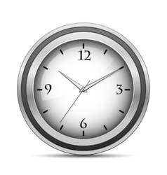 Chrome office clock vector image vector image