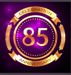 eighty five years anniversary celebration with vector image