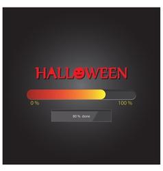 Halloween loading background vector