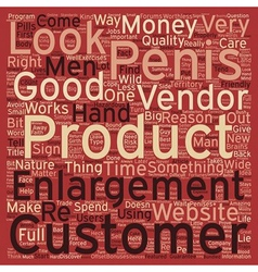 Penis Enlargement what to look out for text vector image
