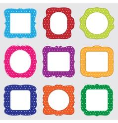 polka dot frames vector image vector image