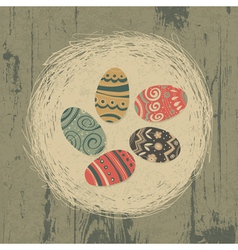 vintage easter eggs vector image