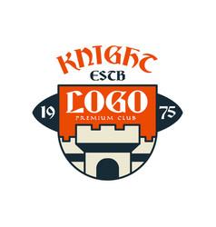 knight escb logo premium club vintage badge or vector image