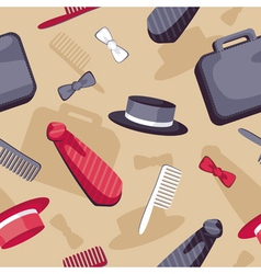 Male accessories seamless pattern vector