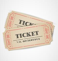 vintage tickets vector image