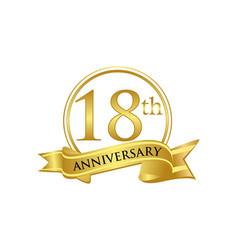 18th anniversary celebration logo vector image