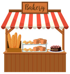 a bakery food stall vector image