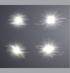 Abstract white sun flare vector