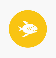beach coast fish sea vector image