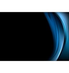 Blue waves on black background vector