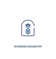 business incubator concept 2 colored icon simple vector image