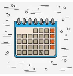 Calendar Icon Calendar Icon Calendar Icon Drawing vector image