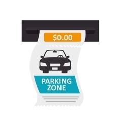 Car ticket parking vector