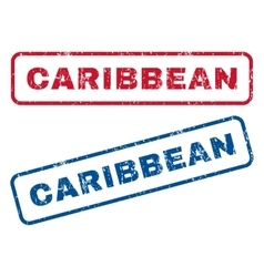 Caribbean Rubber Stamps vector image