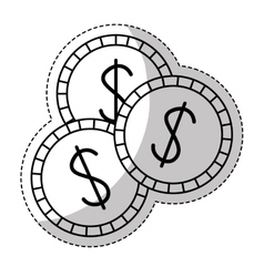 Casino chips icon vector