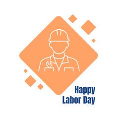 celebrate international labor day postcard vector image