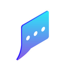 chatting box isolated icon vector image