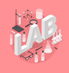 chemistry laboratory objects vector image