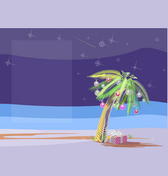 christmas palm vector image
