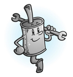 clean new muffler cartoon character vector image