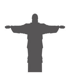 corcovado christ silhouette icon vector image