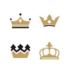 crown king logo vector image