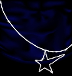 dark blue silk and jewel star vector image