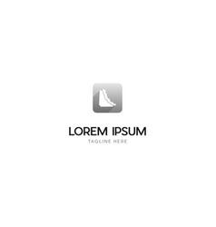 diagram mountain icon media technology logo vector image
