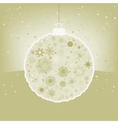 Elegant Christmas ball with greeting EPS 8 vector