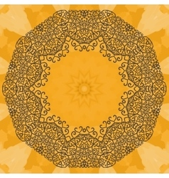 Elegant mandala-like frame on seamless texture vector