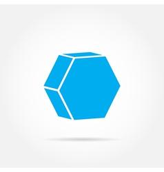 Emblem hexagon vector