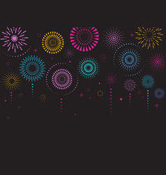 Fireworks and celebration poster vector
