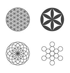 Flower life set icons design elements vector